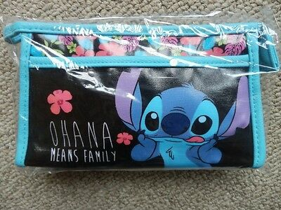 NEW Disney Lilo and Stitch cosmetic makeup bag Ohana Means Family Hawaii flowers