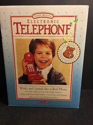 Vintage 1990 Brand-New!!  Box Teddy Ruxpin Red Phone Never Used!!
