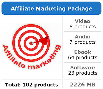 Affiliate Marketing Package / 102 Products / Large Collection