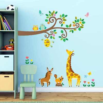 Removable Decal Art Mural Home BedRoom Decor Wall Sticker for Kids Animals Tree