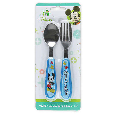 Disney Baby  Mickey Mouse Easy Grasp Fork And Spoon Set BPA Free NEW