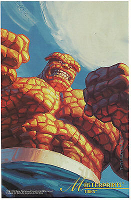 1994 MARVEL Masterpices Masterprint - Thing Jumbo 6.5 X 10 inches print