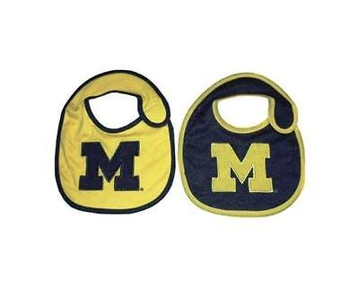 Michigan Wolverines Infant Bibs 2 Pack Lil Fan Baby