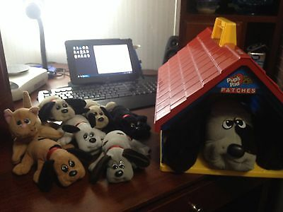 1986 Vintage Pound Puppies Dog House Pups Pad w 1 Large Dog, Pups, and 1 Kitty
