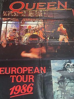 1984 Queen European Tour Poster Rare