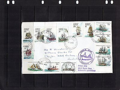 1982 AAT Ships Set Of 14 Base Cancel Cover Carried On Thala Dan, Addressed, VGC