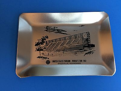 1982 Knoxville World's Fair  metal Ash Tray