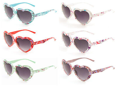 Lot of 12 Kids Heart Shapes with small Unicorn Print Party Sunglasses Shades