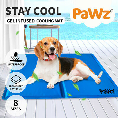 Pet Cat Bed Cooling Gel Mat Non-Toxic Cool Water Pad Summer Dog Multi Sizes