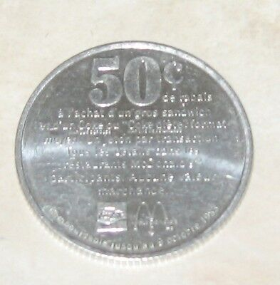 Mcdonalds 50 Cent 1983 Alunimum Collectors Coin