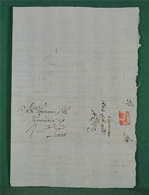 Antique Italian Letter Dated 1690 To Livorno - Italy Postal History   (Z6)