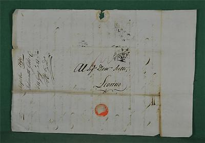 Antique Italian Letter Dated 1796 To Livorno - Italy Postal History   (Z10)