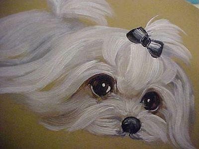 Find Your Maltese Original Painting  Special Offering Deal!