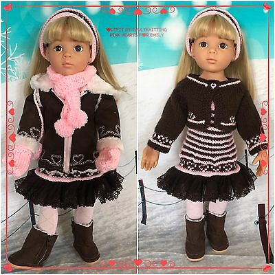 "TRULYKNITTING:H/KNIT O/FIT+acc.COMPATIBLE WITH GOTZ:HANNAH:HAPPY KIDZ:18"" DOLLS"