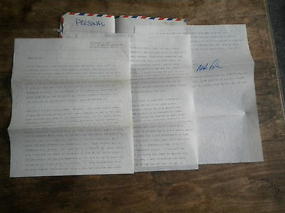 BEACH BOYS 5 PERSONAL LETTERS FROM MIKE LOVE + POST CARD & NOTE FROM BRUCE 1960s