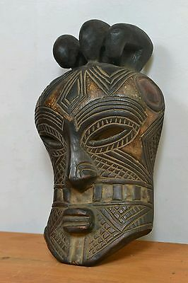 Amazing  african Tetela mask from DRC Congo