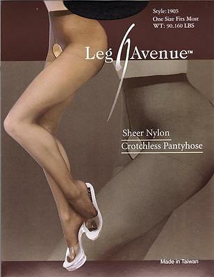VARIOUS COLOURS & SIZES Sheer Nylon Open Crotch Tights / Crutchless Panty Hose