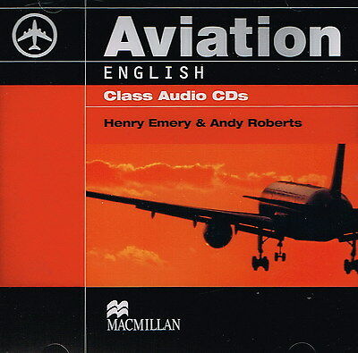 Macmillan AVIATION ENGLISH Class Audio CD's Communication Skills for Pilots @NEW