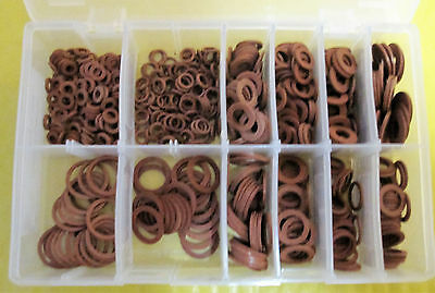 Assorted Metric Fibre Washers (600 Pieces) AT026