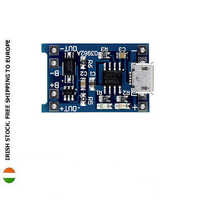 5V Micro USB 1A 18650 Lithium Battery Charging Board With Protection