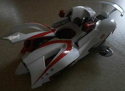 SPEED RACER MACH 6 SOUND & LIGHTS ACTION 1/18 SCALE (has some missing parts)