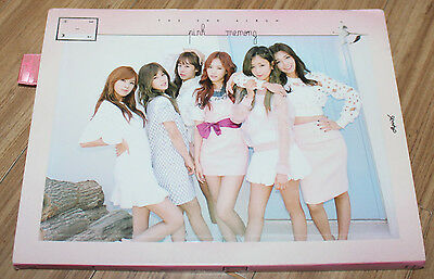 APINK 2ND ALBUM Pink MEMORY WHITE VERSION K-POP REAL SIGNED AUTOGRAPHED PROMO CD