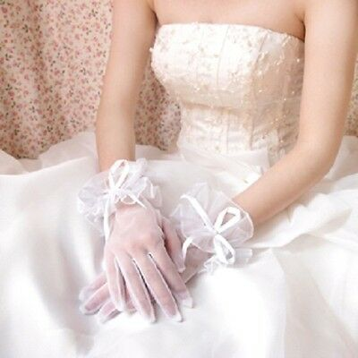 Lace Gloves Evening Prom Ball Party Wedding Bridal