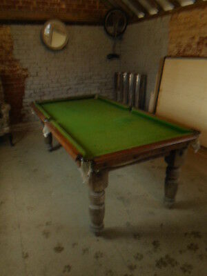 antique riley snooker table, slate bed