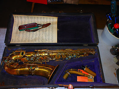 Buescher Elkhart IL True Tone Low Pitch Saxophone 170XXX  serial 1925 ORIG CASE