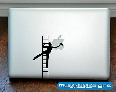 "Logo Painting Apple Macbook Air/Pro/Retina 13"" Vinyl Laptop Sticker Decal Cover"