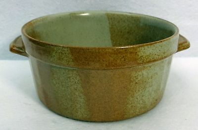 """WHITE MOUNTAIN pottery WHITE TOP pattern Souffle with Handles - 7-1/4"""" x 3-1/2"""""""