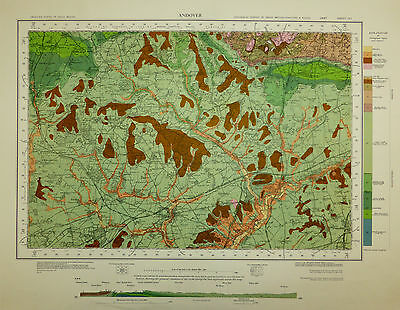 Hampshire map, Andover, Geological Survey map, First Surveyed 1882