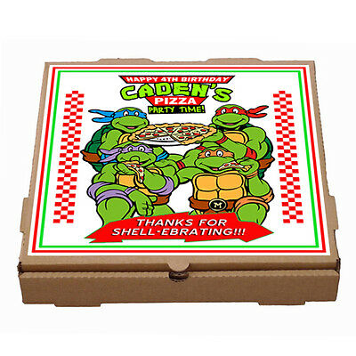 personalized Teenage Mutant Ninja Turtles Pizza box label - Printable