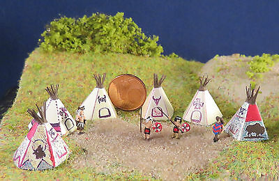 Indian Tipi mexican figure Scale Gauge Z (1:220)
