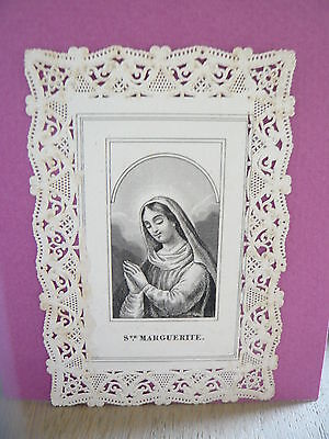 Canivet, image pieuse, holy lace card, santino,imagen pia Ste Marguerite