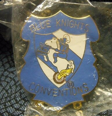 "Blue Knights Motorcycle Club, ""Conventions"" Pin, 2"", NEW!"