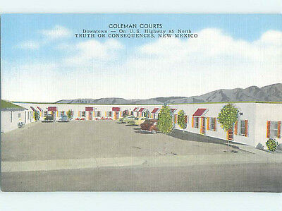 Unused Linen COLEMAN COURTS MOTEL Truth Or Consequences New Mexico NM M6134