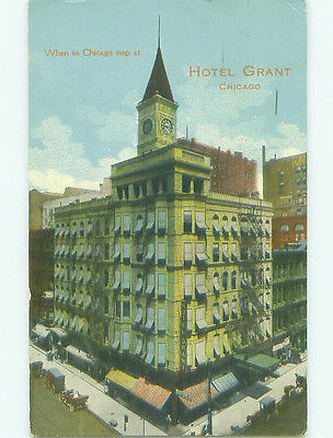 Divided Back GRANT HOTEL Chicago Illinois IL HQ5016