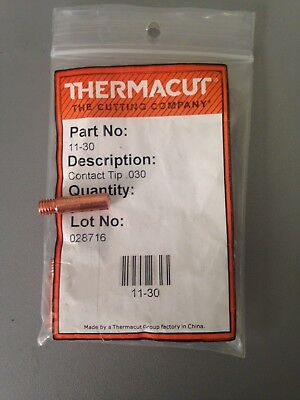 Item 306-Thermacut 14-23 Contact Tips #4 MIG Guns 25 Pack .023 #3 for #2