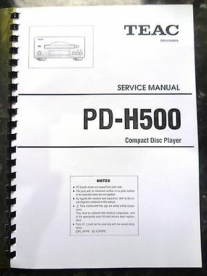 TEAC SERVICE MANUAL for PD-H500 CD Player