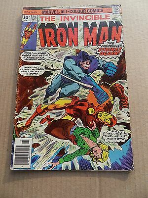Iron Man 91 . Blood Brothers / Controller  App . Marvel 1976 - VG  +