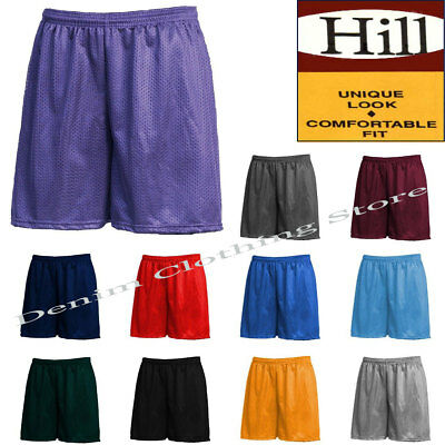 Men Mesh Shorts 2 Pockets workout Jersey pants S-5XL Soft Basketball Gym Fitness