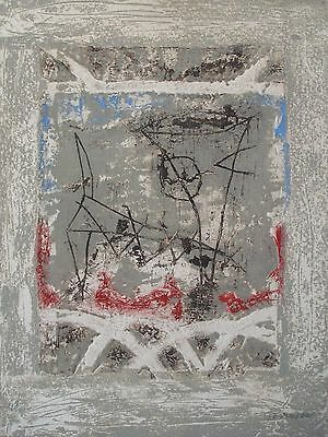 PIERRE MARIE BRISSON ETCHING CARBORUNDUM 66x50cm HANDSIGNED
