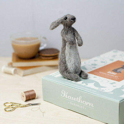 Needle Felting RABBIT Kit. No experience required - learn as you go!