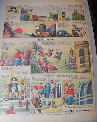 Flash Gordon Sunday by Alex Raymond from 6/28/1936 Large Full Page Size!