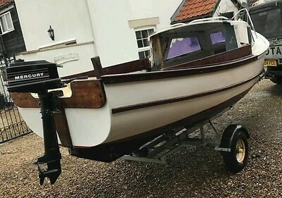 Fishing Boat 16ft, cuddy, Mercury outboard engine //TRAILER OPTION//
