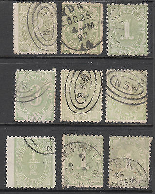 New South Wales - Postage Dues Lot (9)