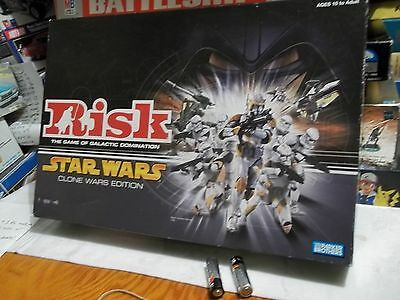 """COMPLETE - RISK """" STAR WARS CLONE WARS """" Edition Board Game Very Good Condition"""