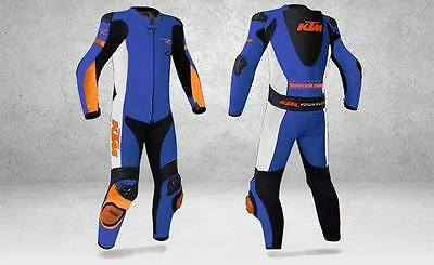 KTM Motorbike Leather Suit Motorcycle Custom Made Any Size/Colour
