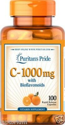 Vitamin C 1000mg With Bioflavonoids X100 Caplets, Puritans Pride